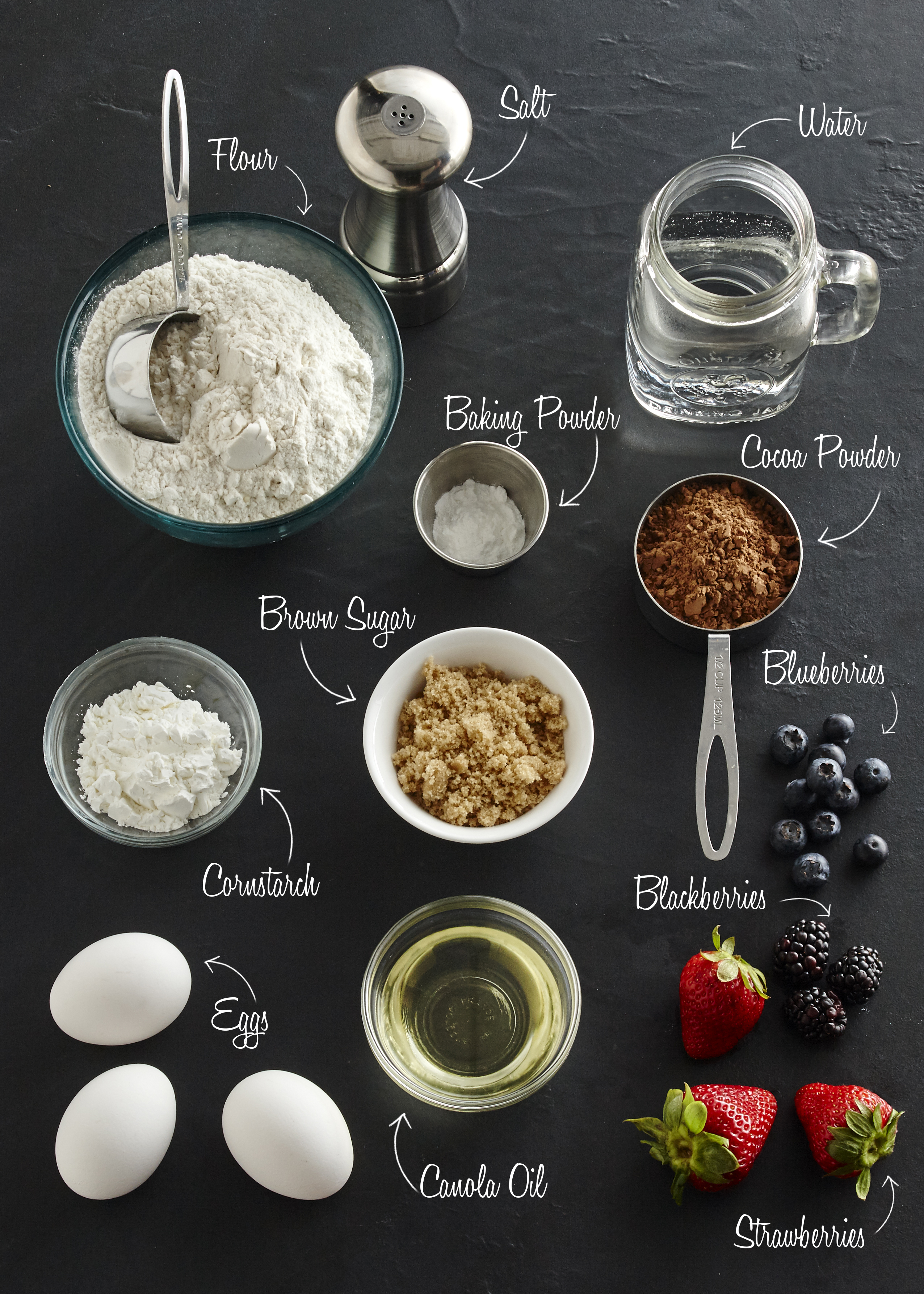 gaufre au chocolat-ingredients